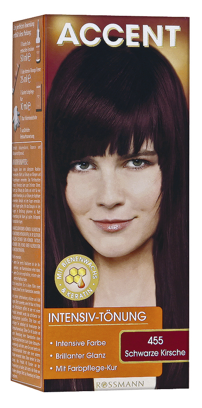 Haarfarbe Schwarze Kirsche Accent Rossmann