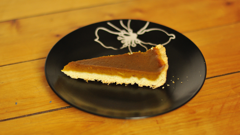 Rezept Pumpkin Pie Kürbiskuchen Backen Halloween Herbst